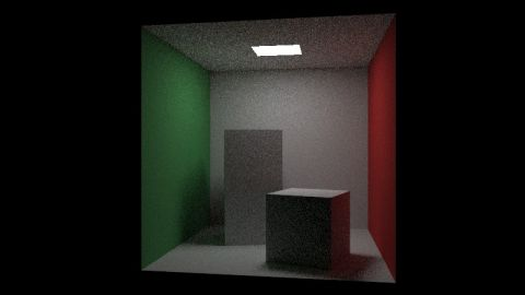 Yet another Cornell Box. I have optimised the code of [url=https://www.shadertoy.com/view/XlGcWD]RIOW 2.07: Instances[/url] for the Cornell Box and added direct light sampling to reduce noise. Only Lambertian solid materials and cubes are supported.