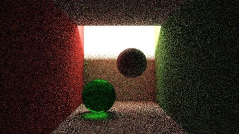 My second try of creating a bidirectional path tracer. I really should read those articles :( (all weights of the paths are guessed) The shader shows a scene with indirect lighting, using a bidirectional path tracer and a classical path tracer.
