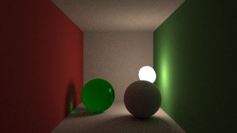 This shader shows the difference between a path tracer with, and without, direct light sampling.