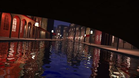 My attempt to create a procedural city with a lot of lights. The city is inspired by Venice. The shader is a combination of my shaders: https://www.shadertoy.com/view/Mdf3zM and https://www.shadertoy.com/view/lslGDB. (I have never been in Venice btw)