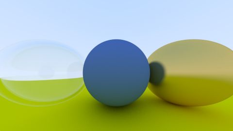 "These shaders are my implementation of the ray/path tracer described in the book ""Raytracing in one weekend"" by Peter Shirley. I have tried to follow the code from his book as much as possible."