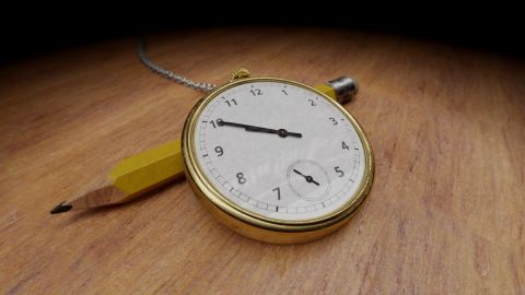 """A simple path tracer is used to render the watch from my image based lighting shader """"Old watch (IBL)"""". [url=https://www.shadertoy.com/view/lscBW4]Click here to compare[/url].  ! Use your mouse to change the camera viewpoint."""