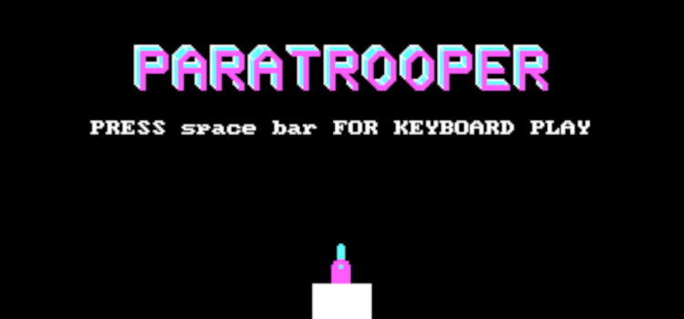 Paratrooper (playable DOS game in a shader)